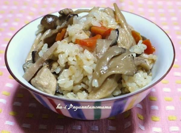 <舞茸とゴボウときのこたっぷりの炊き込みご飯>by:はーい♪にゃん太のママさん