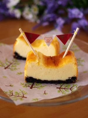 ホットケーキミックスで超手軽&簡単チーズケーキ(ベイクドタイプ)by:めろんぱんママさん