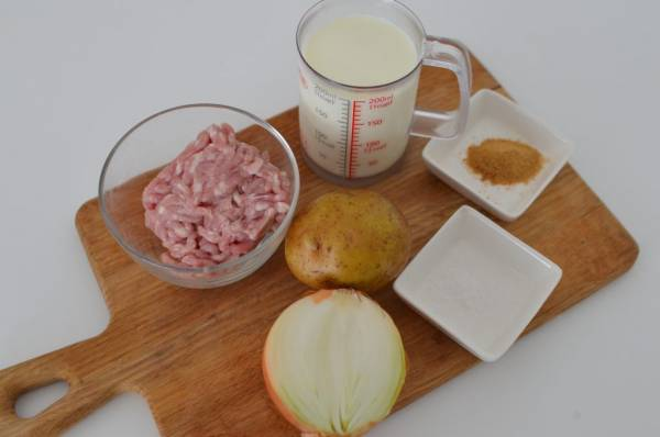 ひき肉なら時短!ほっこり温まる「じゃがいものミルクスープ」の材料
