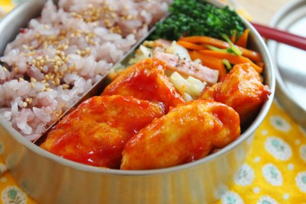 食がすすむ!「鶏ささみのケチャップカレー焼き」のお弁当
