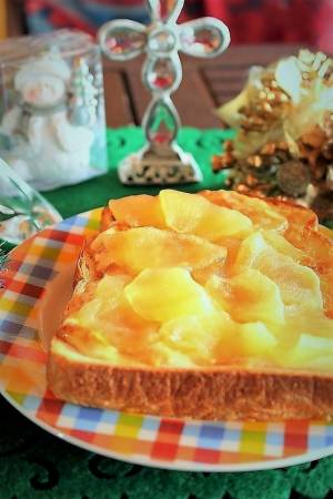 りんごとぷりんで簡単!<あっぷるぷりんトースト>by:はーい♪にゃん太のママさん