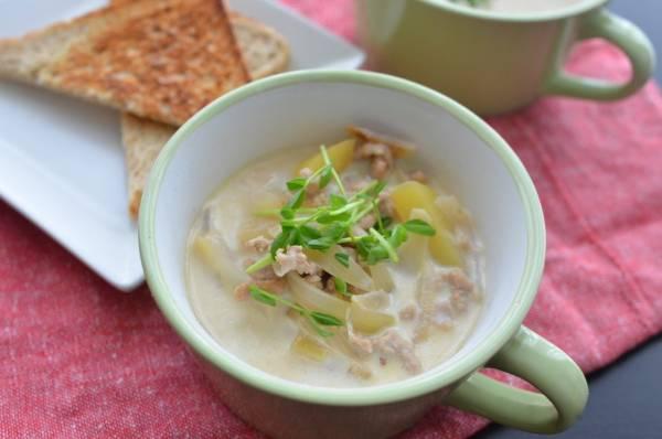 ひき肉なら時短!ほっこり温まる「じゃがいものミルクスープ」by:柳沢 紀子さん