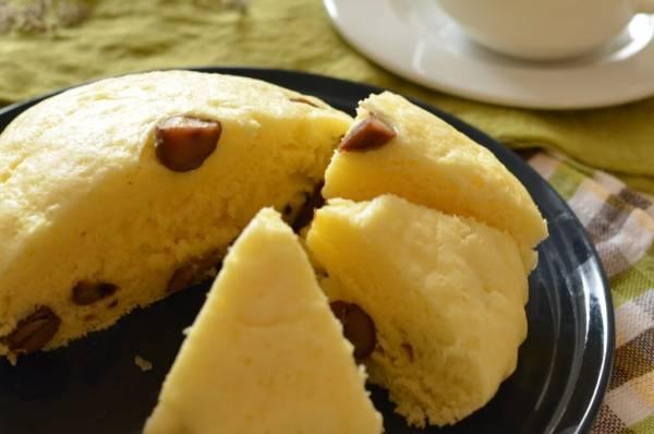 ホットケーキミックスとフライパンで簡単もちっふわっ♪「甘栗蒸しパン」by:柳沢 紀子 さん