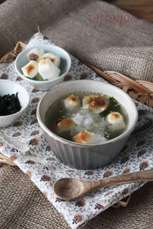 胃にやさしくボリューム満点「お餅とワカメのおろしスープ」by:タラゴン(奥津純子) さん