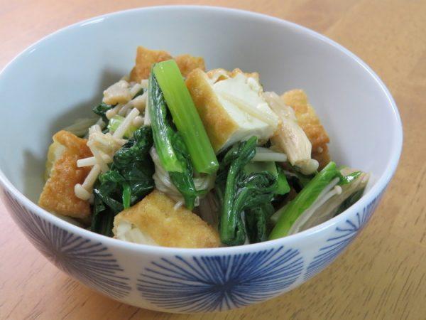 きのこたっぷり☆小松菜と厚揚げ胡麻油和えby:kaana57さん