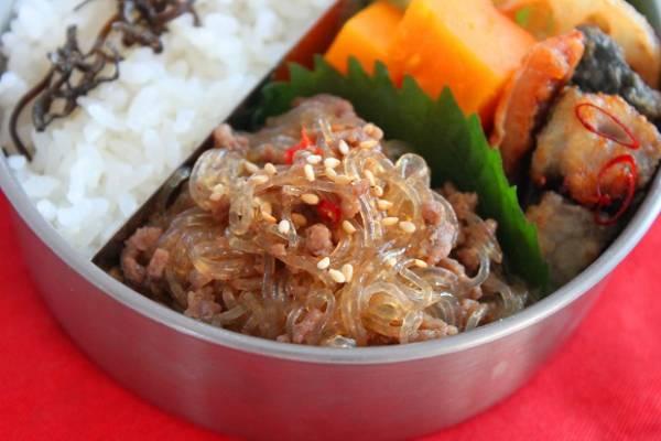 お肉少しでも美味しい!簡単「マーボー春雨」のお弁当by:料理研究家 かめ代さん
