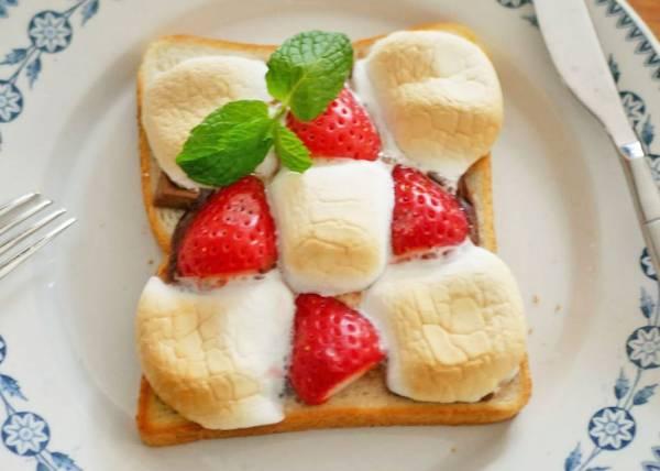 板チョコ×イチゴ×○○で簡単!とろーり甘い「至福のバレンタイントースト」