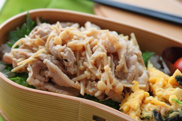 (フライパンひとつ♪のせるだけで簡単「豚しゃぶえのき丼」弁当by:料理研究家 かめ代さん