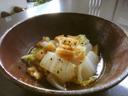 レンジで白菜と揚げのポン酢和えby:イクコさん