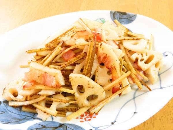 根菜♪ゴボウと蓮根のオリーブオイル炒めby:kaana57さん