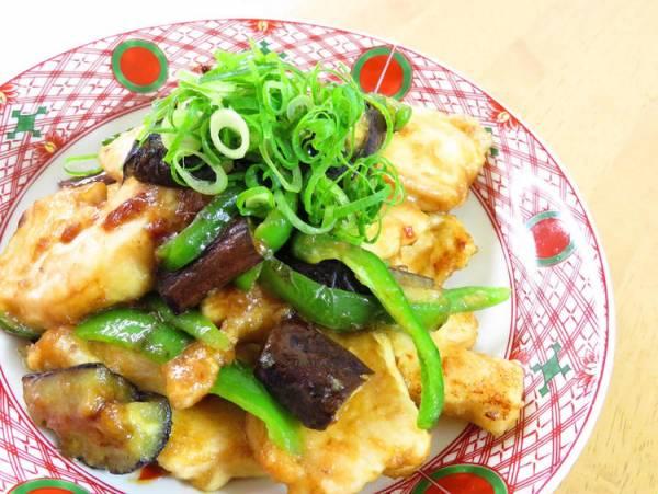 茄子とピーマン辛みそ胸肉炒め☆お弁当に♪by:kaana57さん