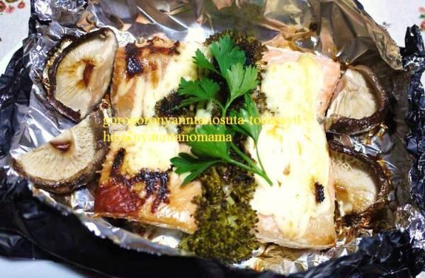 <時短・簡単ホイル焼き♪鮭のマヨネーズ焼き(^◇^)>by:はーい♪にゃん太のママさん