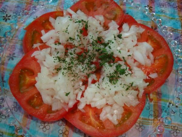 *トマトとオニオンの冷たいサラダ*by:happyspiceさん