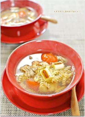 こんがり焼き野菜のほっこり生姜スープパスタby:Ayaさん