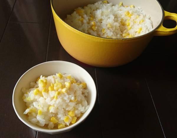 切ってのせて炊くだけで簡単!甘~い「とうもろこしごはん」by:料理家 村山瑛子さん