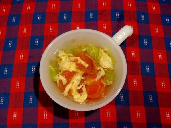 レタスとトマトのスープ。byきー。さん