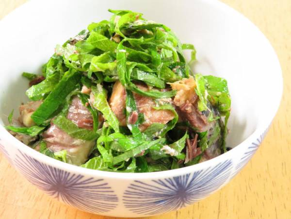 サバ缶で簡単☆鯖のしそ和えby:kaana57さん