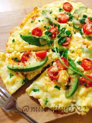 生地なし☆チーズと卵の低糖質ピザby:Misuzuさん