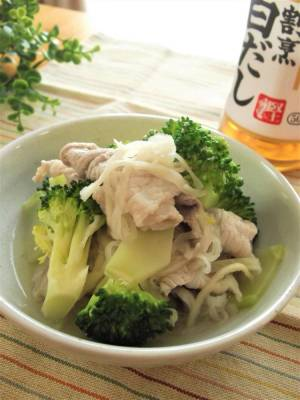 豚肉×ブロッコリー×切干大根の白だしさっと煮by:まんまるらあてさん