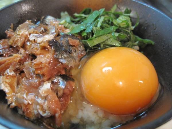 さんま缶と大葉のたまごかけご飯by:えんさん