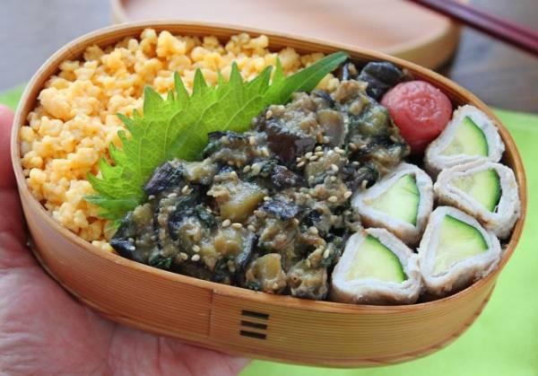 夏の定番にしたい!簡単おいしい「なすと大葉のそぼろ」のお弁当by:料理研究家 かめ代さん