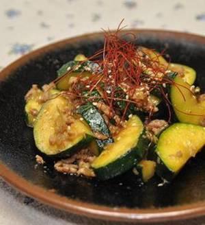 ズッキーニのピリ辛味噌炒めby:月草さん