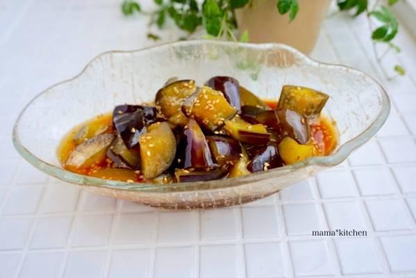 レンジ5分!ご飯がすすんで困る作り置き「韓国風ナスの揚げびたし」by:Mayu*さん