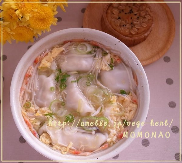 ゆず胡椒風味♪かんたん卵スープで餃子スープby:MOMONAOさん