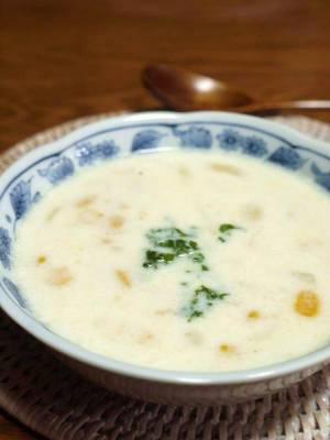 (<ぽてコーンスープ>by:はーい♪にゃん太のママさん
