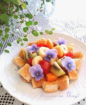 (フルーツトーストサラダ*華やか朝ごはん?by :BiBiすみれさん)