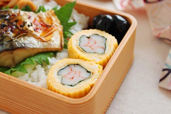 定番おかずをちょっとおめかし♪「カニカマと大葉の卵焼き」弁当by:料理研究家 かめ代さん