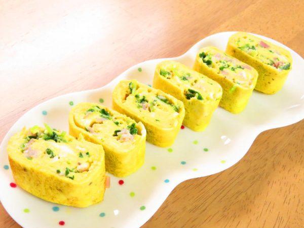 豆苗とベーコンの卵焼き☆お弁当にも◎by:kaana57さん