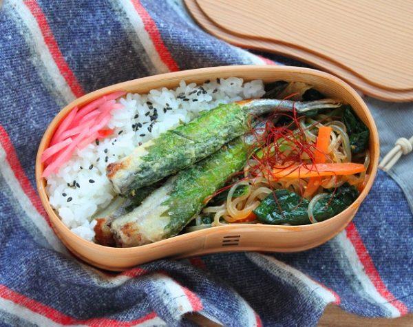 フライパンで簡単!「大葉ししゃも」「しらたきと野菜のピリ辛炒め」2品弁当