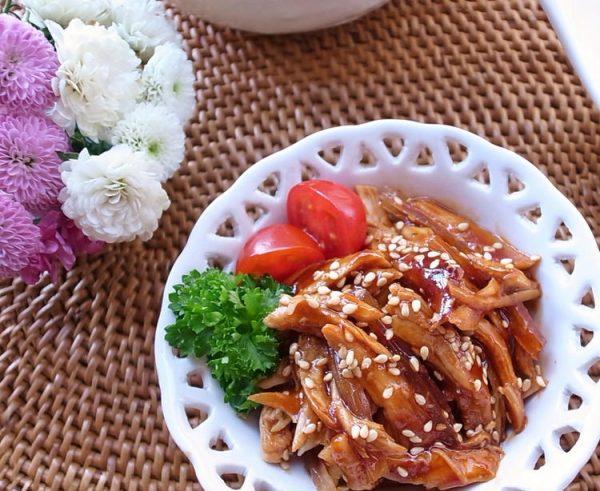 やわらか鶏ササミ♪お酒まぶしてレンジでチン(^^)お弁当やおつまみにコリアンチキンby:MOMONAOさん