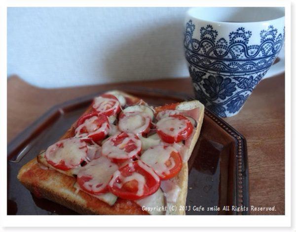 ナスとトマトのチーズトーストby:仁美さん
