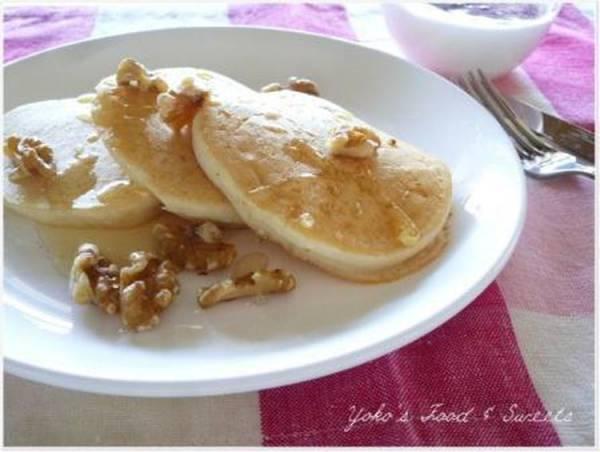 朝食に~もちもちヘルシー♪豆腐の米粉パンケーキby:わちようこさん