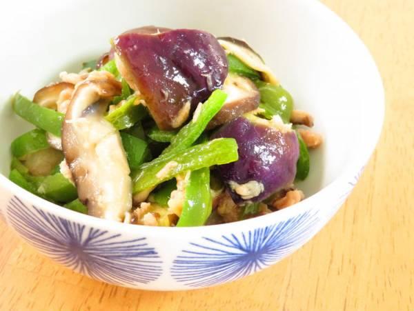 和惣菜☆ナスと椎茸ピーマンごま油風味by:kaana57さん