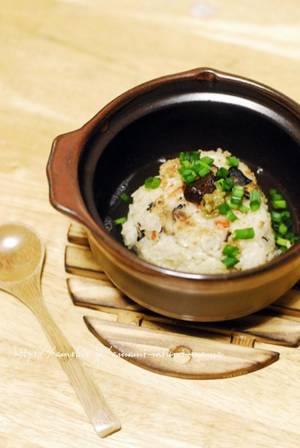 余った炊き込みご飯で焼きおにぎり茶漬けby:kibi-sugarさん