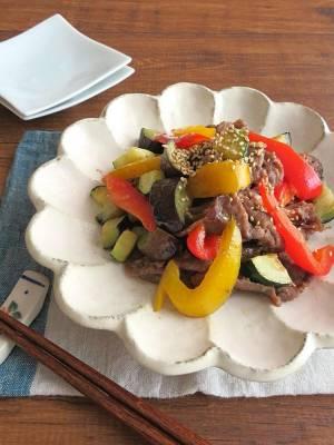 スタミナたっぷり◎牛肉と夏野菜の生姜焼きby:kaana57さん