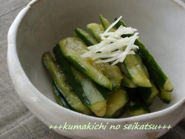 ●超簡単♪たたききゅうりの梅しそぽん酢漬け☆by:kumakichiさん