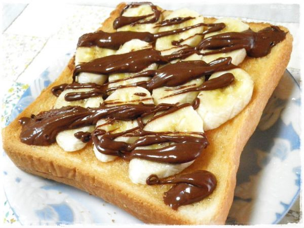 わさびチョコ☆バナナハニートースト♪by:りもにうむさん