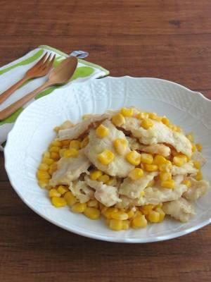 食欲そそる♪鶏むね肉の塩バターコーン炒めbykaana57