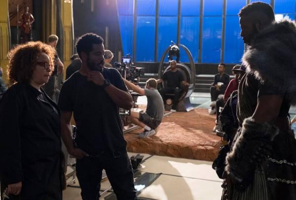 ライアン・クーグラー監督/メイキングカット『ブラックパンサー』-(C)Marvel Studios 2018