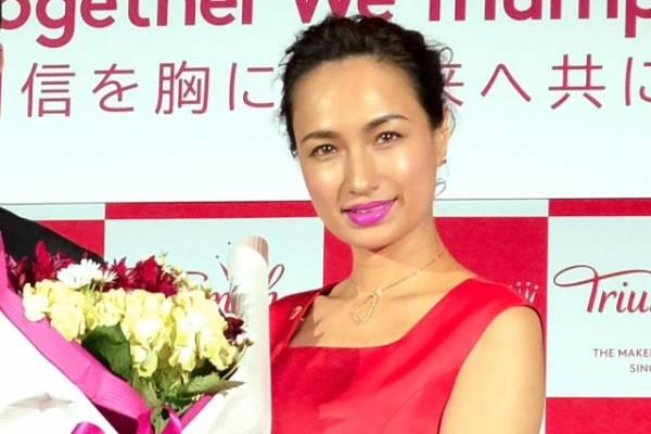 トリンプブランドの新アンバサダーに就任した佐田真由美