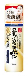豆乳イソフラボン入り「サナ なめらか本舗」炭酸泡が出てくる洗顔料を新発売