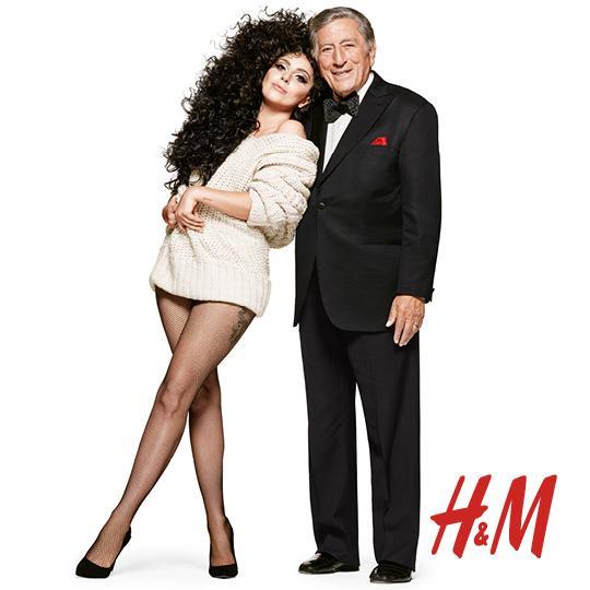世界で活躍する大スターのトニー・ベネット(TONY BENNETT)とレディー・ガガ(LADY GAGA)がH&M新CMで夢の共演!