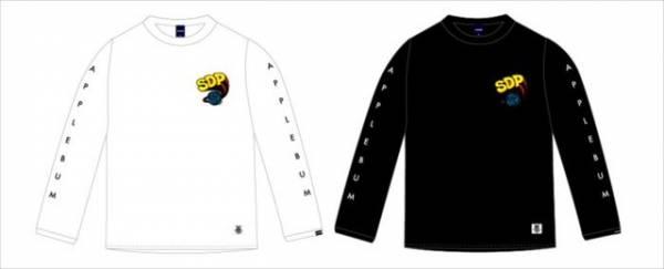 """スチャダラパー×アップルバム「""""スチャダラパー地球ロゴ""""長袖Tシャツ」(7,800円)"""