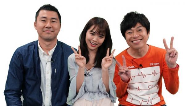 『野望研究所』(九州朝日放送:KBC)の出演者(左から中島尚樹、菅本裕子、岡本啓)