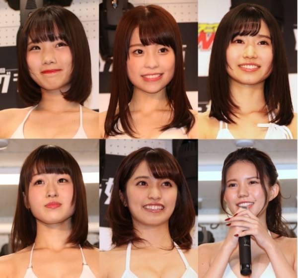 YAグラ姫2018ファイナリスト:(上段左から)葵あおい、池田優花、木内くるみ、(下段左から)田仲はな、MIYU、横山あみ(C)Deview
