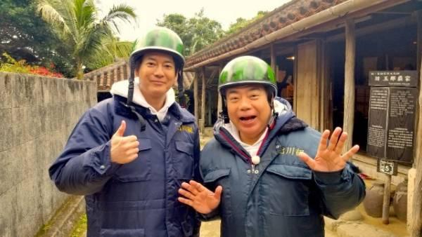 俳優の唐沢寿明がテレビ東京系『出川哲朗の充電させてもらえませんか?』のガチンコ旅に参戦。3月3日放送(C)テレビ東京